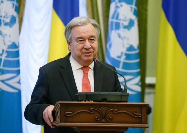 En la imagen un registro del secretario general de Naciones Unidas, António Guterres, quien fue una de las voces de la conmemoración oficial organizada por la ONU de cara al Día Internacional de la Mujer.