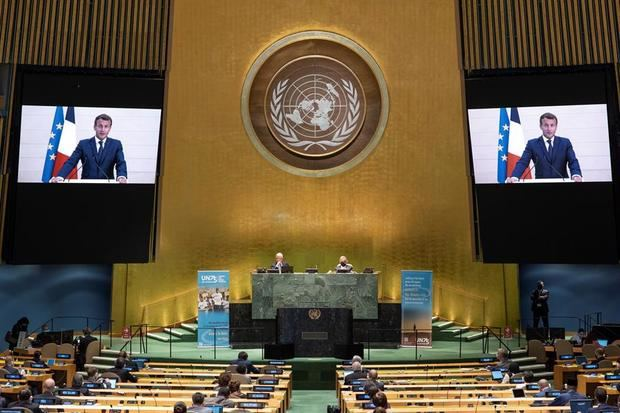 Macron reclama en la ONU un