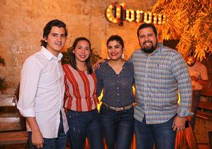 Carlos Elas, Vivian Cáceres, Roco Fernández y José Aristides Martinez.