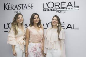 Francesca Vicino, Maris Samayoa y Ginna Fernández.