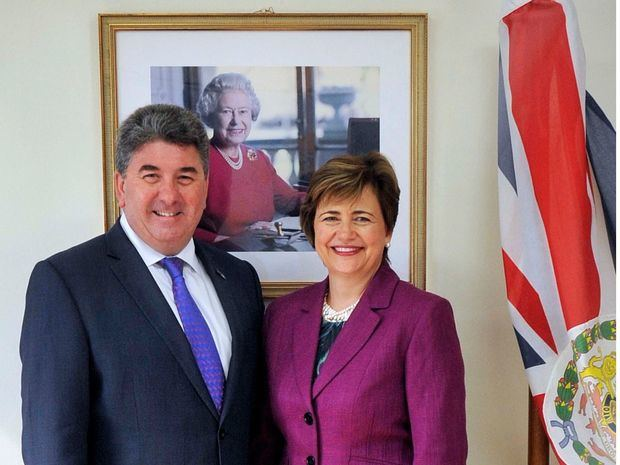 Chris y Sharon Campbell, esposos y embajadores del Reino Unido en la isla Hispaniola