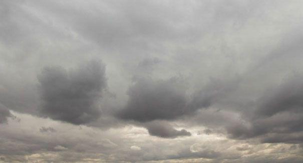 Cielos nublados y aguaceros dispersos en comienzo de semana