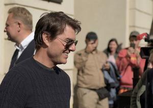 Fotografía tomada el pasado 2 de octubre en la que se registró al actor estadounidense Tom Cruise, en Kiev, Ucrania.