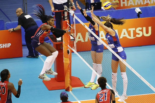 RD cayó 3-0 ante Brasil en su segundo partido en el Mundial de Voleibol Femenino