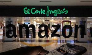 El logo de Amazon en El Corte Inglés.
