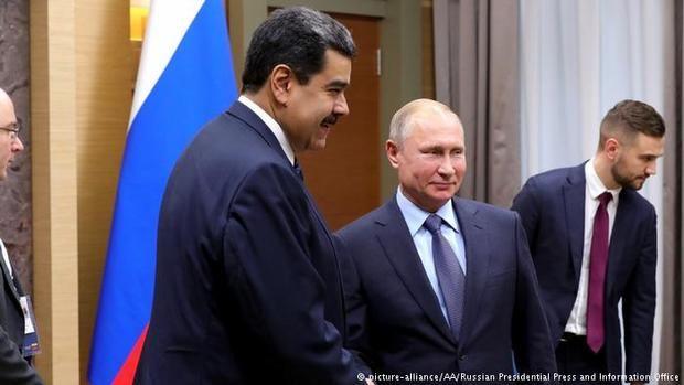 El presidente de Venezuela, Nicolás Maduro, junto al presidente de Rusia, Vladimir Putin.