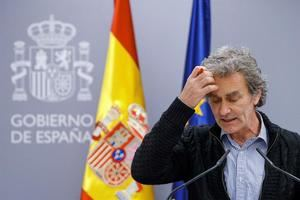 El director del Centro de Coordinación de Alertas y Emergencias Sanitarias, Fernando Simón, durante la rueda de prensa.