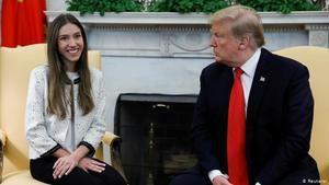 Trump insta a Rusia a 'salir' de Venezuela al recibir a la esposa de Guaidó