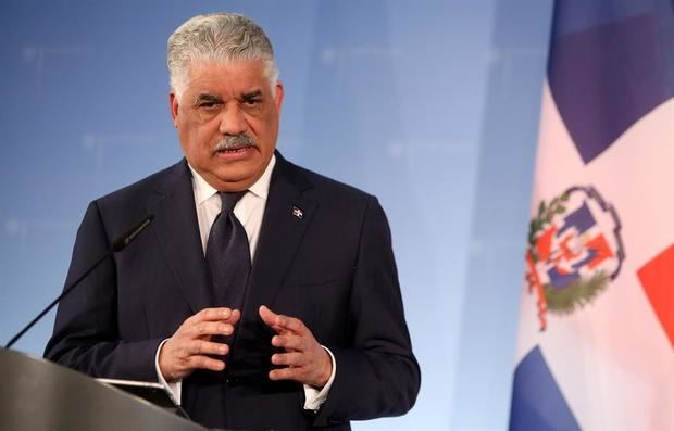 En la imagen, el canciller dominicano, Miguel Vargas.
