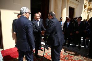 Danilo Medina recibe en el Palacio Nacional al presidente electo de Guatemala, Alejandro Giammattei