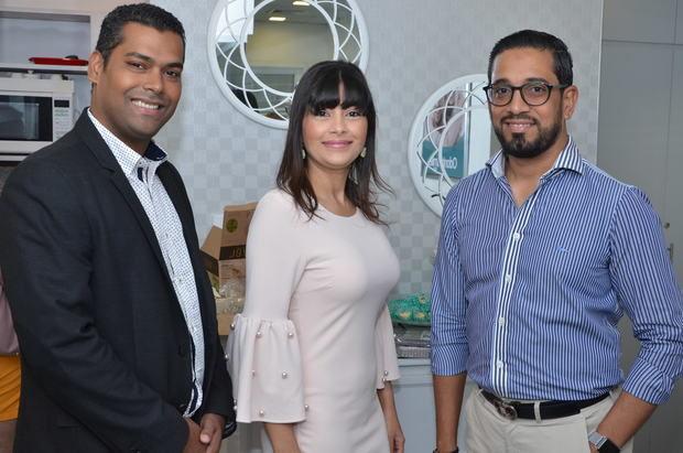 Emil Pimentel, Alba Iris Reyes y Kelvin Sime.