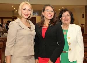 Leiko Ortiz, Fanny Mejía y Miriam Díaz Santana.