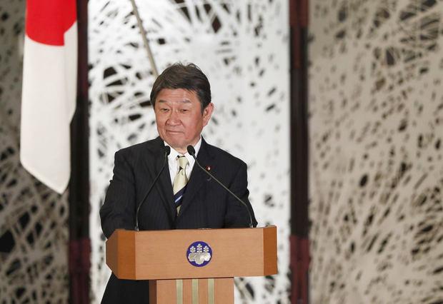 En la imagen, el ministro de Asuntos Exteriores de Japón, Toshimitsu Motegi.