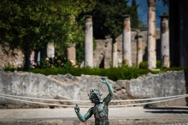 Las ruinas de Pompeya, la ciudad romana enterrada por la erupción del Vesubio en el 79 d.C.