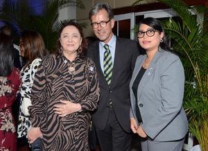 Dra. Edelstein Claire, Embajador de Alemania Volker Pellet, y Sra. Velisse Feliz.