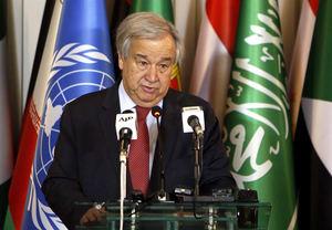 El secretario general de la ONU Antonio Guterres.