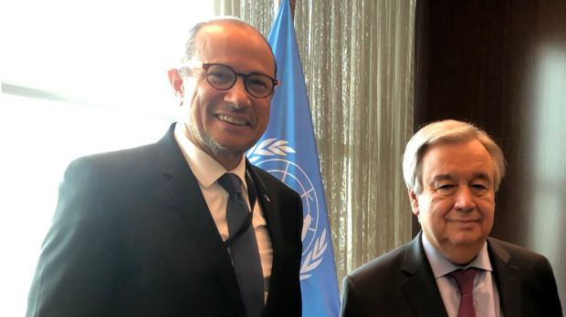 José Antonio Rodriguez y Antonio Guterres.