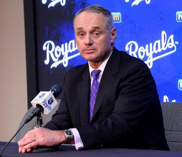 El comisionado de la Liga Mayor de Béisbol Rob Manfred.