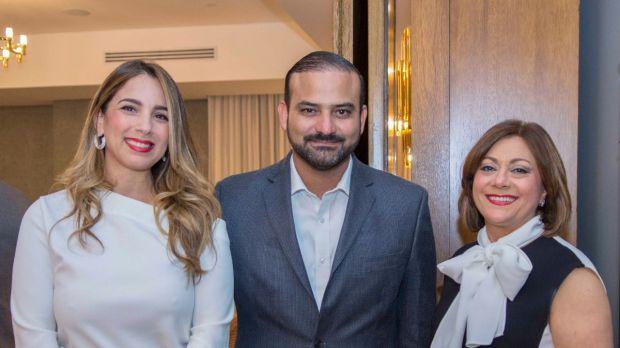 Carolina Veras, Carlos Rodríguez y Antonia Subero.