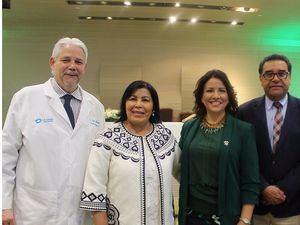 Dr. Jorge Marte, Licda. Milagros Ureña, Dra. Margarita Cedeño, Dr. César Herrera.