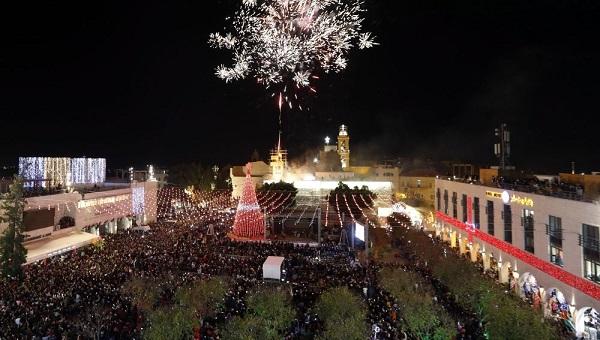 Comienza la Navidad en Belén, cuna del cristianismo, con encendido del árbol