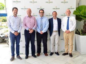 Carlos de Linares, Jesús Duran, Francisco Ropero, Malik Alleg y Patricio Vigoreaux.