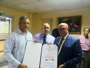 José R. López, Francisco Goico Morales y José Silié Ruiz. (Foto: Cortesía).