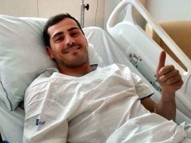 Familia, compañeros y aficionados arropan a Casillas en su recuperación