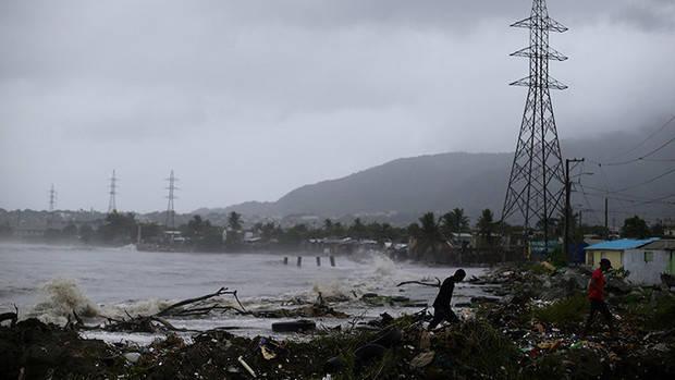 Daños del huracán Irma en República Dominicana.