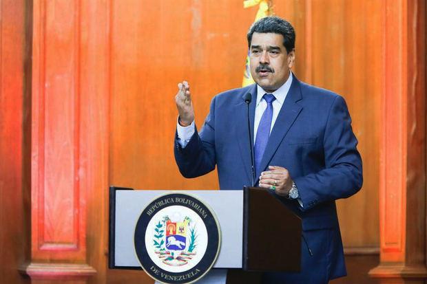 Presidente de Venezuela, Nicolás Maduro, mientras habla durante un acto de Gobierno en Caracas, Venezuela.