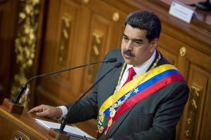 El presidente de Venezuela, Nicolás Maduro, ofrece su Mensaje Anual de Memoria y Cuenta este martes, en el Palacio Federal Legislativo, en Caracas (Venezuela).