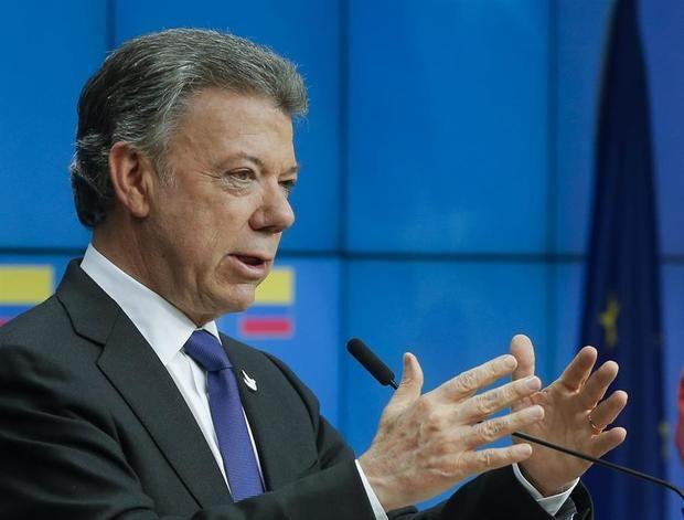 En la imagen un registro del expresidente de Colombia y Premio Nobel de la Paz en 2016, Juan Manuel Santos.