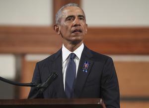 En la imagen, el expresidente estadounidense Barack Obama.