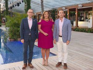 Giuseppe Bonarelli, Angela Vega y Piero Bonarelli.