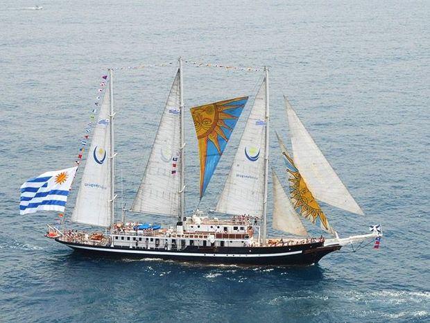 El velero escuela uruguayo Capitán Miranda mostrará la Marca País en América