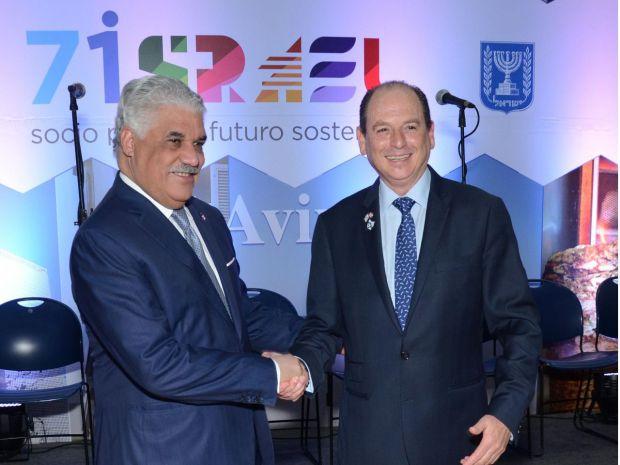 Canciller de la República Dominicana Sr. Miguel Vargas y Embajador de Israel, Sr Daniel Biran.