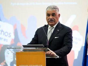 El canciller dominicano Miguel Vargas.