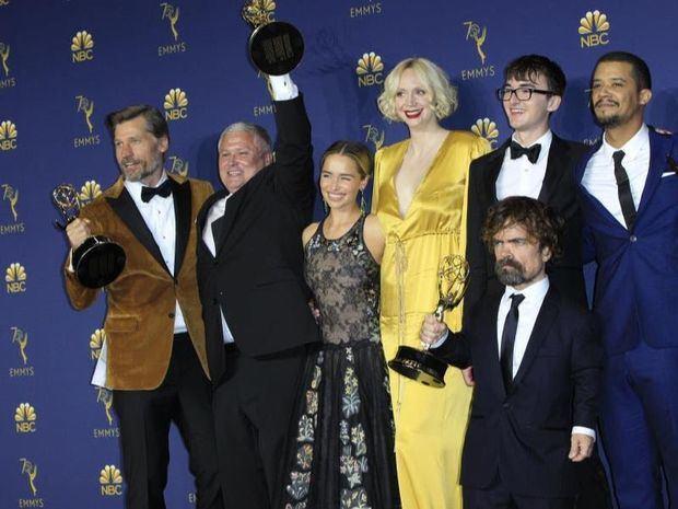 Imagen de archivo de algunos de los miembros del elenco de Game of Thrones.