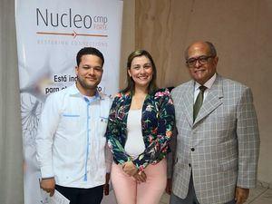 Milthon Paulino, María Eugenia Vento y José Silié Ruiz.