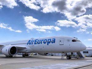 Air Europa arribó este lunes desde Madrid al Aeropuerto Internacional de Tocumen, Panamá.