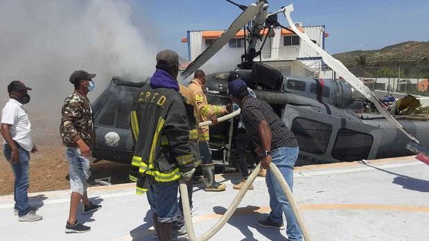 Helicóptero militar dominicano sufre accidente junto a la frontera con Haití.