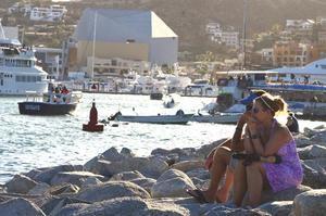 Turistas disfrutan del paradisíaco centro turístico de Los Cabos en Baja California Sur (México).