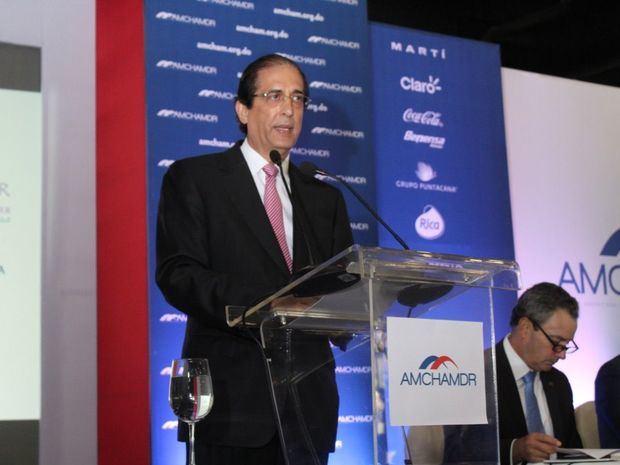 Ministro de la Presidencia Gustavo Montalvo, quien disertó sobre 'Seguridad en República Dominicana: Avances y Retos'.