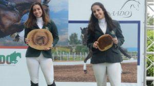 Los jinetes Kiara Forastieri, Vera Schad y Argelis Rodríguez salieron triunfantes .