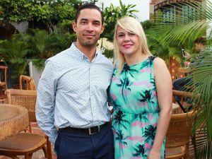 Carlos Espinal y Michelle Domínguez.