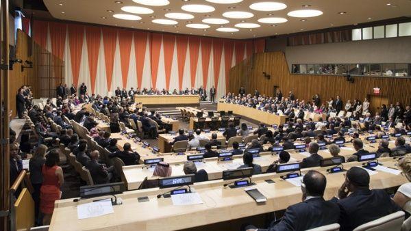 Reunión entre representantes de naciones.