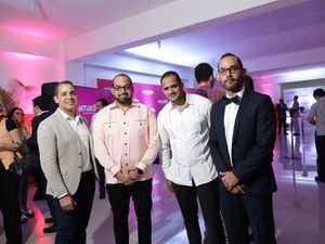 Emil Salomón, Alexander Bobadilla, Darvin Castro y Jeffrey Medina.