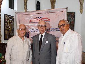 Luis Scheker Ortíz, Eugenio Pérez Montás y José Alfredo Rizek.