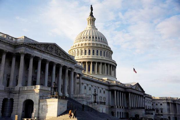 Vista del edificio del Capitolio en Washington, DC, EE.UU.