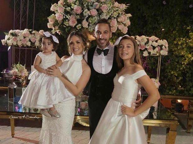 Jhoel López y su esposa Liza Blanco celebran su boda
